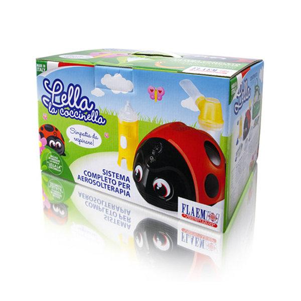 """Kompresora inhalators bērniem, inhalators+deguna skalotājs """"Mārīte"""" Lella la coccinella"""
